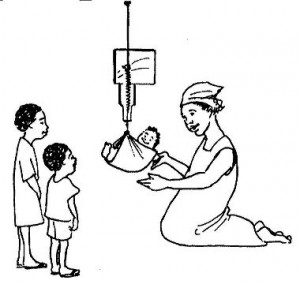 Children can be taught how to weigh babies and why its important