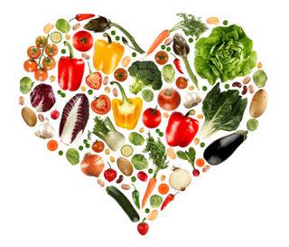 Heart fruit and veg