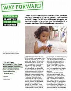 Children for Health in Cambridge Development Report