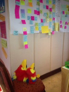 Our friends reviewing the days work at a World Vision meeting in Bangkok!