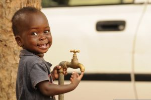 Young Child Washing Hands